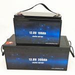 Deep Cycle LiFePO4 Solar Battery 12V 100Ah / 200Ah Golf Cart Lithium Ion Battery
