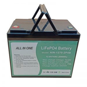 Rechargeable 896Wh lifepo4 battery 12V 70Ah for electric vechile