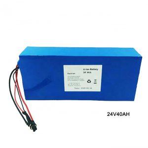 Ηλεκτρικό ποδήλατο Ποδήλατο 24 Volt Lithium Battery 24V 40Ah NMC Li Ion Battery Pack Επαναφορτιζόμενη μπαταρία ιόντων λιθίου