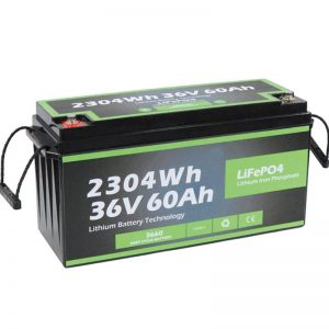 Factory Outlet Safety Design Long Life Marine 36v 60ah Battery Lifepo4