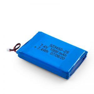 Επαναφορτιζόμενη μπαταρία LiPO 523450 3.7V 1000mAH / 7.4V 1000mAH / 3.7V 2000mAH