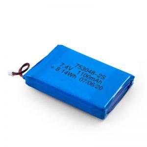 Επαναφορτιζόμενη μπαταρία LiPO 753048 3.7V 1100mAh / 7.4V 1100mAH / 3.7V 2200mAH