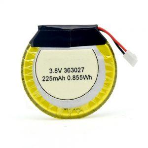 LiPO Προσαρμοσμένη μπαταρία 363027 3.7V 225mAH